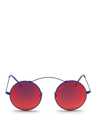 Main View - Click To Enlarge - Spektre - 'MET-RO' lightweight round metal sunglasses