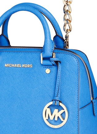 Detail View - Click To Enlarge - Michael Kors - 'Jet Set Travel' medium saffiano leather satchel