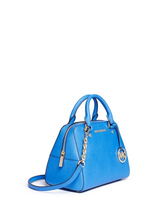 Front View - Click To Enlarge - Michael Kors - 'Jet Set Travel' medium saffiano leather satchel