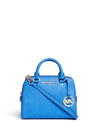 Main View - Click To Enlarge - Michael Kors - 'Jet Set Travel' medium saffiano leather satchel