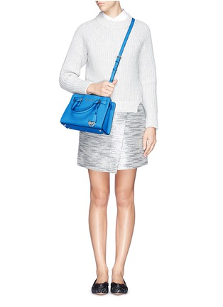 Figure View - Click To Enlarge - Michael Kors - 'Dillon' small saffiano leather satchel