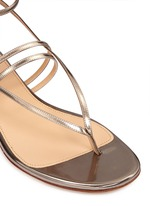 Metallic leather strappy sandals