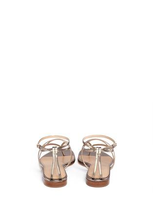 背面 - 点击放大 - SERGIO ROSSI - 金属层次搭带夹脚平底凉鞋