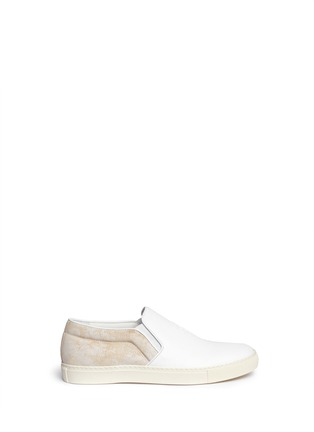 Main View - Click To Enlarge - Alexander McQueen - Skull leather sneaker slip-ons