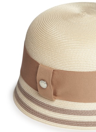 Detail View - Click To Enlarge - Armani Collezioni - Wide ribbon cloche hat