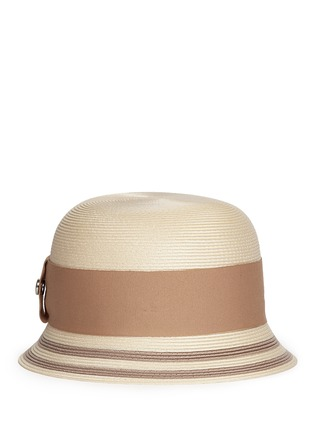 Main View - Click To Enlarge - Armani Collezioni - Wide ribbon cloche hat