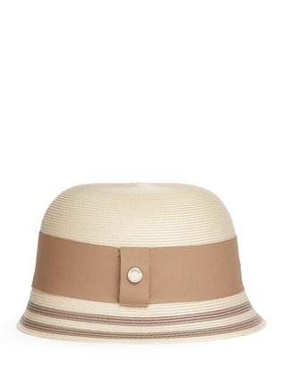 Figure View - Click To Enlarge - Armani Collezioni - Wide ribbon cloche hat