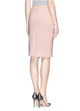 Back View - Click To Enlarge - Armani Collezioni - Neoprene pencil skirt