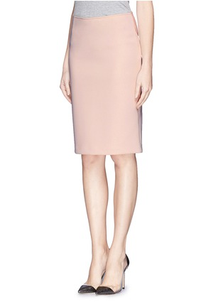 Front View - Click To Enlarge - Armani Collezioni - Neoprene pencil skirt