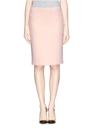 Main View - Click To Enlarge - Armani Collezioni - Neoprene pencil skirt