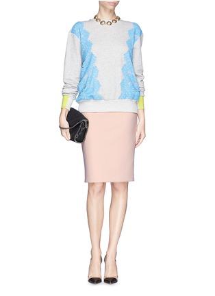 Figure View - Click To Enlarge - Armani Collezioni - Neoprene pencil skirt
