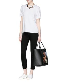 FRAME DENIMZip cuff cropped skinny jeans