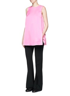 Ms MINPleated satin sleeveless blouse