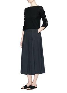 The Row'Kanu' pleated twill skirt