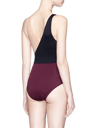 Back View - Click To Enlarge - Solid & Striped - 'Ballerina' colourblock one-piece swimsuit