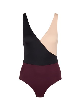 Main View - Click To Enlarge - Solid & Striped - 'Ballerina' colourblock one-piece swimsuit