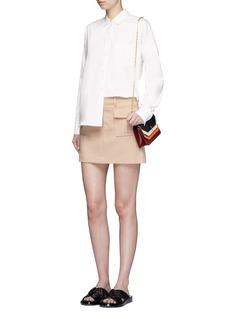 Theory'Lupah' patch pocket mini skirt
