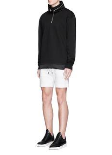 MASSSubstance' chevron stripe drawstring shorts