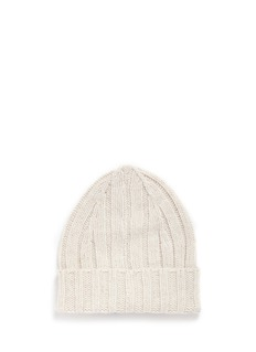 Isla Sunglasses mink fur patch rib knit kids beanie