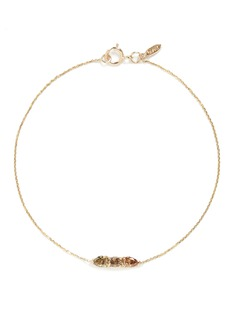 Xiao Wang 'Stardust' diamond 14k yellow gold chain bracelet