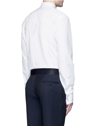 Back View - Click To Enlarge - Gucci - Piqué bib tuxedo shirt