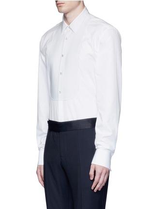 Front View - Click To Enlarge - Gucci - Piqué bib tuxedo shirt