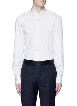 Main View - Click To Enlarge - Gucci - Piqué bib tuxedo shirt