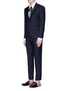 Gucci Piqué bib tuxedo shirt