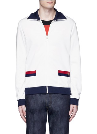 Main View - Click To Enlarge - Gucci - Bee embroidery track jacket