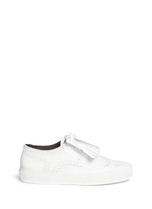 Main View - Click To Enlarge - Robert Clergerie - 'Tolk' detachable kiltie leather brogue sneakers