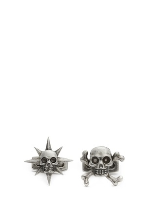 Main View - Click To Enlarge - Alexander McQueen - Asymmetric star and skull cufflinks