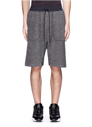 Main View - Click To Enlarge - NLST - Bouclé knit sweat shorts