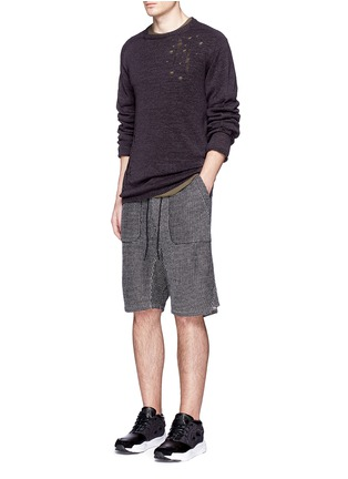 Figure View - Click To Enlarge - NLST - Bouclé knit sweat shorts