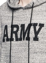 'Army' print mélange cotton terry hoodie