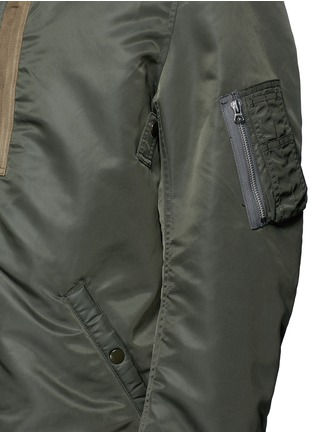 Detail View - Click To Enlarge - NLST - Oversized flight jacket
