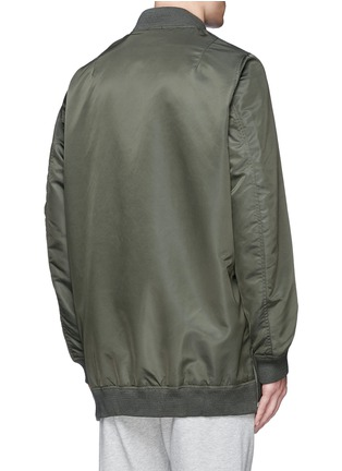 Back View - Click To Enlarge - NLST - Oversized flight jacket
