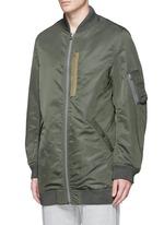 Oversized flight jacket