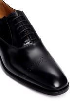 'Abrasivato' perforated toe cap leather Oxfords