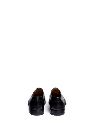 Back View - Click To Enlarge - Rolando Sturlini - 'Abrasivato' perforated toe cap leather Oxfords