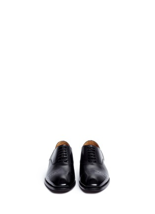 Front View - Click To Enlarge - Rolando Sturlini - 'Abrasivato' perforated toe cap leather Oxfords