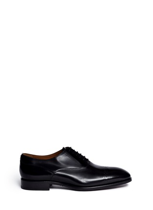 Main View - Click To Enlarge - Rolando Sturlini - 'Abrasivato' perforated toe cap leather Oxfords