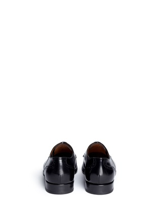 Back View - Click To Enlarge - Rolando Sturlini - 'Abrasivato' half brogue leather Derbies
