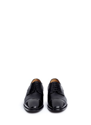 Front View - Click To Enlarge - Rolando Sturlini - 'Abrasivato' half brogue leather Derbies