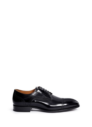 Main View - Click To Enlarge - Rolando Sturlini - 'Abrasivato' half brogue leather Derbies