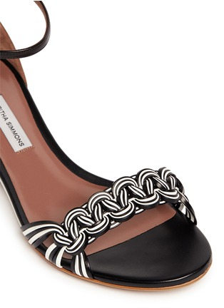 Detail View - Click To Enlarge - TABITHA SIMMONS - 'Lotti' braided leather wedge sandals