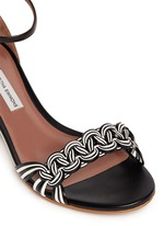 'Lotti' braided leather wedge sandals