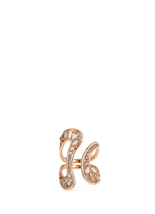Main View - Click To Enlarge - Fernando Jorge - 'Stream' diamond 18k rose gold open ring