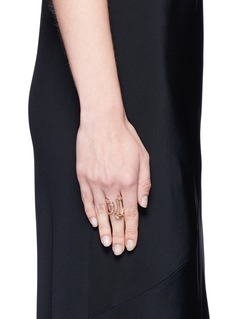 Fernando Jorge 'Stream' diamond 18k rose gold open ring