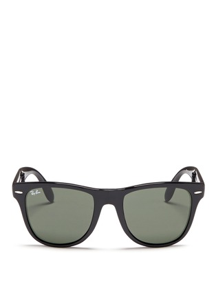 Main View - Click To Enlarge - Ray-Ban - 'Wayfarer Folding Classic' acetate sunglasses