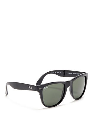Figure View - Click To Enlarge - Ray-Ban - 'Wayfarer Folding Classic' acetate sunglasses